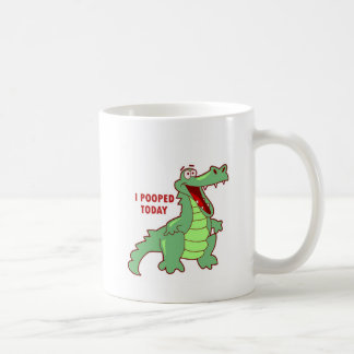 Funny Alligator Pooped Today Classic White Coffee Mug