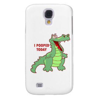 Funny Alligator Pooped Today Galaxy S4 Cover