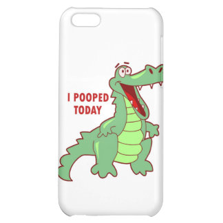 Funny Alligator Pooped Today iPhone 5C Covers