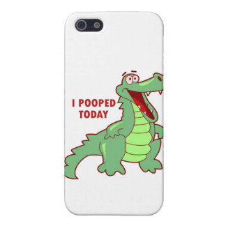 Funny Alligator Pooped Today iPhone SE/5/5s Case