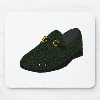 Funny Alligator Shoe Art Mouse Pad