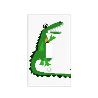 Funny Alligator Talking to Crocodile Light Switch Cover