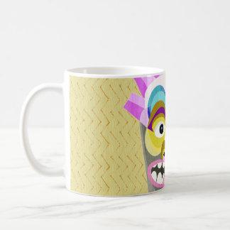 Funny Aloha Tiki Hut Monster Coffee Mug