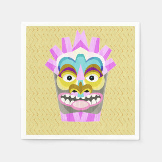Funny Aloha Tiki Hut Monster Napkin