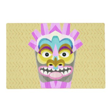 Beach Themed Funny Aloha Tiki Hut Monster Placemat