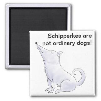 Funny Aloof Schipperke Dog Cartoon Magnet