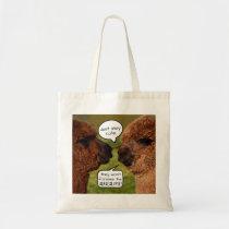 Funny Alpaca Alpacalypse Scheming Tote Bag
