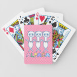 Funny alpaca bicycle playing cards