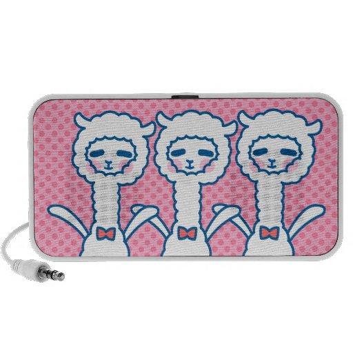 Funny alpaca iPod speakers