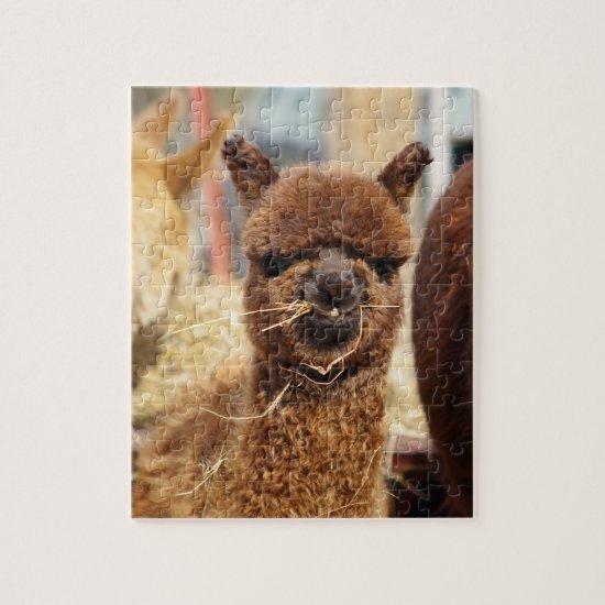 Funny Alpaca Puzzle Isabella