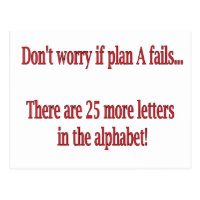 Funny Alphabet Quote Postcard