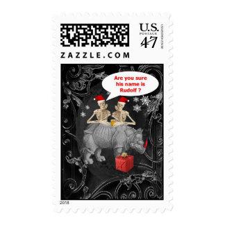 Funny Alternative Gothic Chistmas Postage