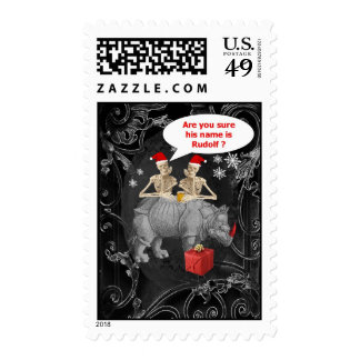 Funny Alternative Gothic Chistmas Stamp