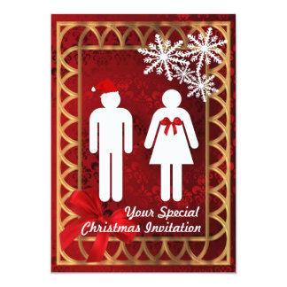 Funny alternative snowman  santa  ,  Christmas Card