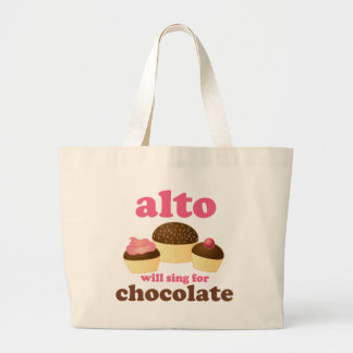 Funny Alto Chocolate Quote Music Gift Bags