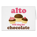 Funny Alto Chocolate Quote Music Gift Greeting Card