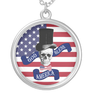 Funny American flag Necklaces