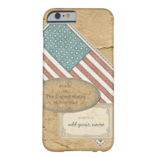 Funny American Flag Personalized Barely There iPhone 6 Case