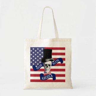 Funny American flag Tote Bag