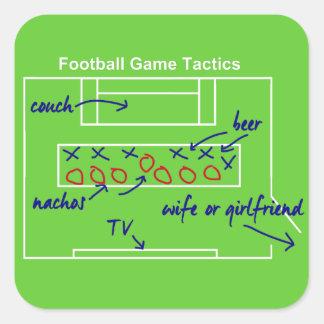 Funny American football game tactics, Square Sticker