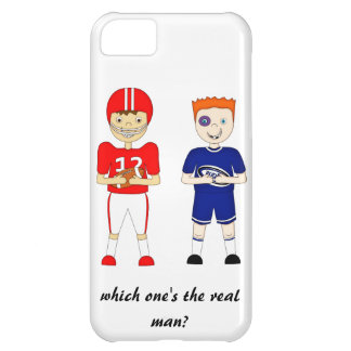 Funny American Football versus Rugby Cartoon iPhone 5C Cases
