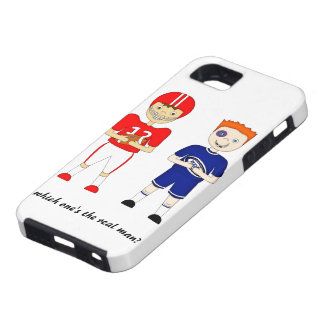 Funny American Football versus Rugby Cartoon iPhone 5 Covers
