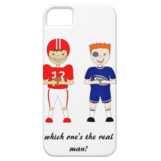 Funny American Football versus Rugby Cartoon iPhone 5 Cover