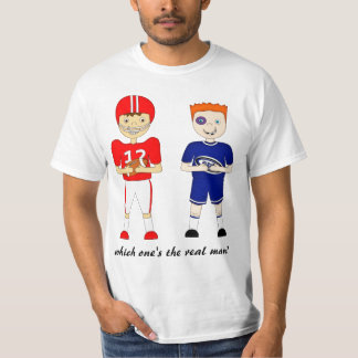 Funny American Football versus Rugby Cartoon T-Shirt