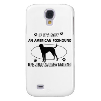funny AMERICAN FOXHOUND designs Galaxy S4 Covers