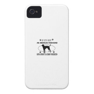 funny AMERICAN FOXHOUND designs Case-Mate iPhone 4 Case