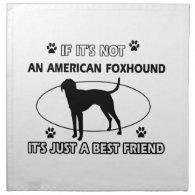 funny AMERICAN FOXHOUND designs Cloth Napkins