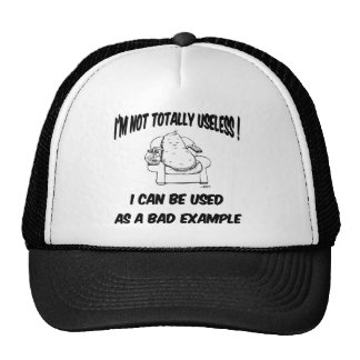 Funny, amusing.  I can be used for an example..... Trucker Hat