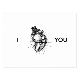 Funny Anatomically Correct Heart Postcard