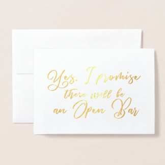 Funny and Beautiful Bridesmaid Proposal Foil Card