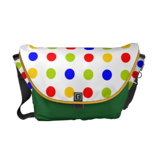 funny and colorful dots messenger bags