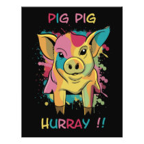 Funny and Colorful Pig Piglet Flyer