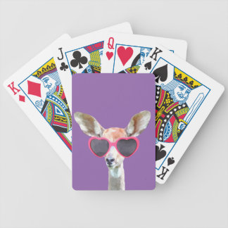 Funny and cute antelope woodland animal bicycle playing cards