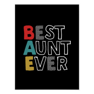 Funny and Cute Best Aunt Ever Cool Auntie Poster