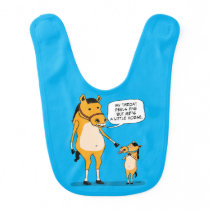 Funny and Cute Big Horse and Little Horse Baby Bib