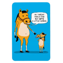 Funny and Cute Big Horse and Little Horse Magnet