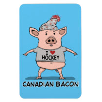 Funny and Cute Canadian Bacon Pig Magnet