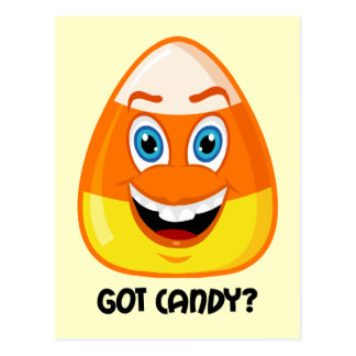 Funny and cute candy Halloween Postcard