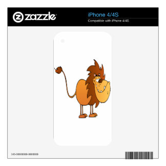 Funny and Cute Lion Decals For The iPhone 4S