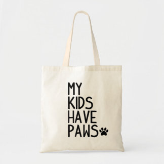 Funny and cute My kids have paws Tote Bag