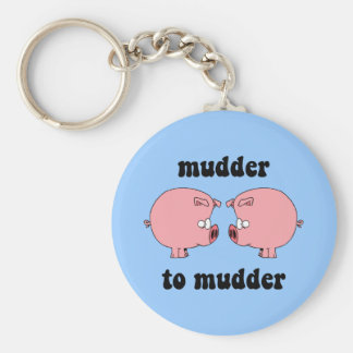 Funny and cute pigs basic round button keychain