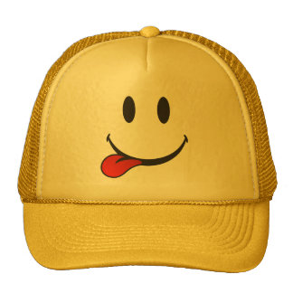 Funny and Cute Sticking out tongue Emoji Trucker Hat