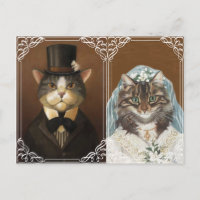 Funny and cute wedding invitation