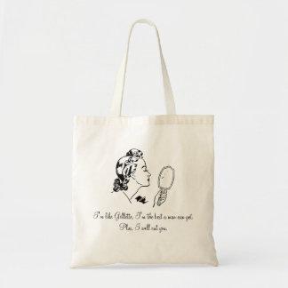Funny and Elegant Man Bashing Quotes Bag