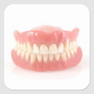 FUNNY AND FUN FALSE TEETH STICKERS