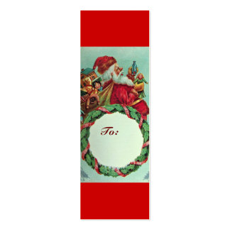 FUNNY AND HUMOROUS SANTA CLAUS VINTAGE CROWN BUSINESS CARD TEMPLATE